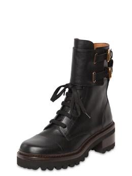 "Кожаные Ботинки ""mallory"" 40мм See By Chloe 70IL4L011-MTAxNDA1"