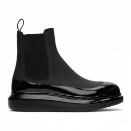 Alexander McQueen Black Glossy Chunky Chelsea Boots 625182WHYK1