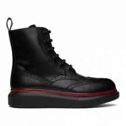 Alexander McQueen Black Hybrid Brogue Boots 625193WHX5F