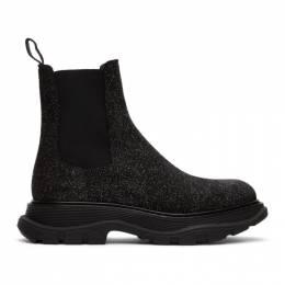 Alexander McQueen Black Galaxy Chelsea Boots 625229WHW56