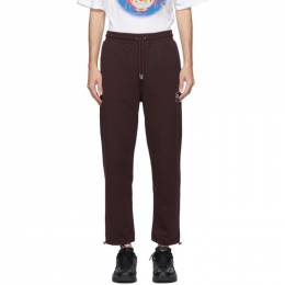 Opening Ceremony Burgundy Box Logo Lounge Pants YMCH001F20FLE0013902