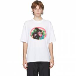 Opening Ceremony White Figures Print T-Shirt YMAA001F20JER0020258