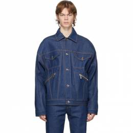 Opening Ceremony Blue Denim Box Logo Jacket YMYE001F20DEN0024902