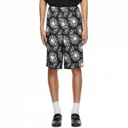 Gucci Black Silk Star Print Shorts 624399ZAENN