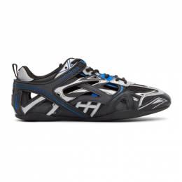 Balenciaga Black and Blue Drive Sneakers 624343-W2FD1-1041
