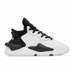 Y-3 Black and White Kaiwa Sneakers FX7280 FTW-1-D1