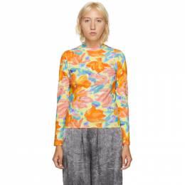 Balenciaga Multicolor Floral Print Turtleneck 620940-TIV86