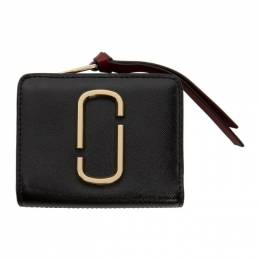 Marc Jacobs Black and Burgundy Mini Compact Wallet M0013360