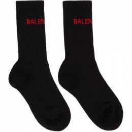 Balenciaga Black Logo Tennis Socks 540615-372B4