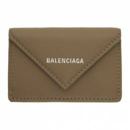 Balenciaga Grey Mini Papier Wallet 391446-DLQ0N
