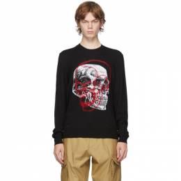 Alexander McQueen Black Wool Skull Sweater 626440Q1WZF