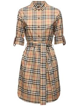 Платье-рубашка Из Хлопка Поплин Burberry 71I040053-QTcwMjg1