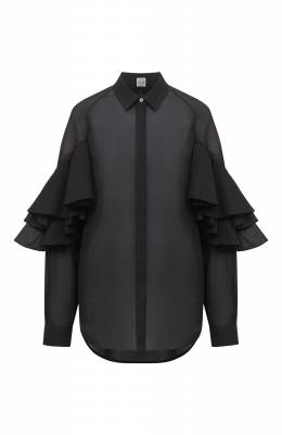 Хлопковая блузка Toteme L0CARN0 203-702-704