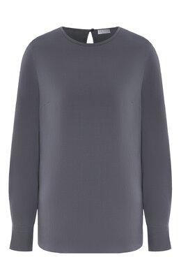 Шелковая блузка Brunello Cucinelli MF948DA110
