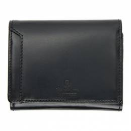Master-Piece Co Black Notch Trifold Wallet 223053