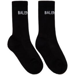 Balenciaga Black Logo Tennis Socks 521232-372B4