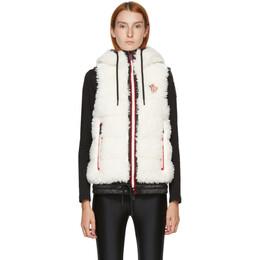 Moncler Grenoble White Down Fleece Puffer Vest F209888G51000899A9