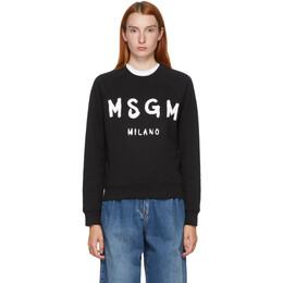MSGM Black Artist Logo Sweatshirt 2941MDM89 207799