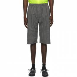 Balenciaga Black and White Pyjama Shorts 626579-TIT04-1070