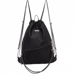 Master-Piece Co Black Knit Drawstring Backpack 02283