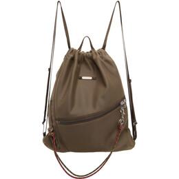 Master-Piece Co Khaki Knit Drawstring Backpack 02283