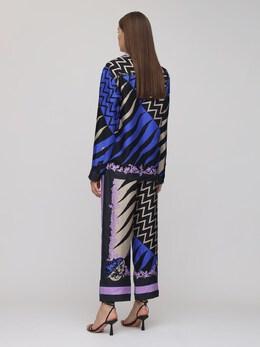 Шёлковая Рубашка С Принтом Emilio Pucci 72IM57002-MDA3IENPQkFMVE8vTUFM0