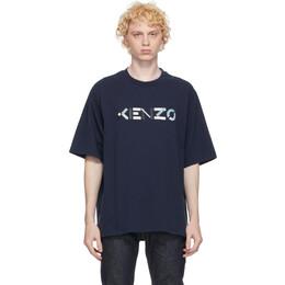 Kenzo Navy Skate Logo T-Shirt FA65TS0554SK