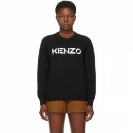 Kenzo Black Brushed Logo Sweatshirt FA62SW8214MD