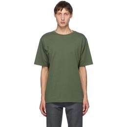 Dries Van Noten Green Round Collar T-Shirt 21103-1600-604