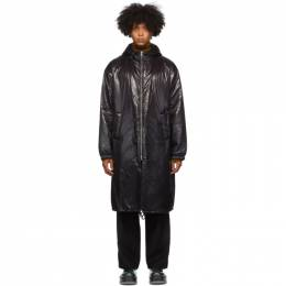 Dries Van Noten Black Shiny Long Coat 20514-1178-900