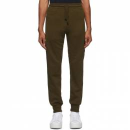 Dries Van Noten Khaki Zip Pockets Lounge Pants 21141-1606-606