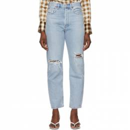 Agolde Blue 90s Mid Rise Loose Fit Jeans A069C-1141