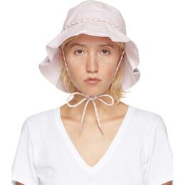 Rag&Bone Pink Drawstring Bucket Hat WJW20P1011MO11-LTPINK