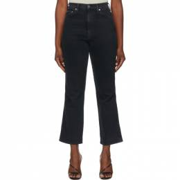 Agolde Black Pinch Waist High Rise Kick In Realm Jeans A095D-1046