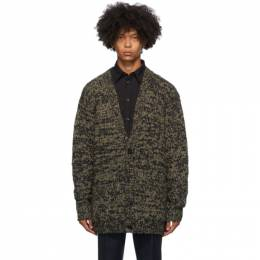 Dries Van Noten Khaki Big Knit Cardigan 21202-1704-606