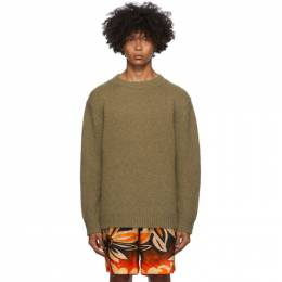 Dries Van Noten Khaki Fisherman Sweater 21241-1704-606