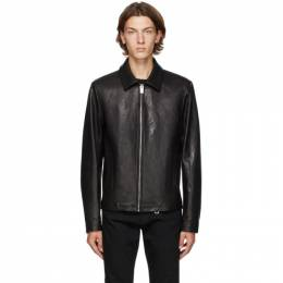 1017 Alyx 9Sm Black Leather Leone Jacket AAMOU0175LE01.F20
