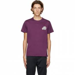 Moncler Purple Logo T-Shirt F20918C781008390Y