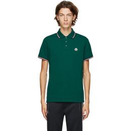 Moncler Green Pique Polo F20918A7030084556