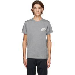 Moncler Grey Logo T-Shirt F20918C781008390Y