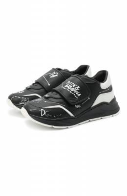 Кожаные кроссовки Dolce&Gabbana DA0911/AH813/29-36