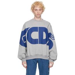 GCDS Grey Macro Logo Sweatshirt CC94M021005