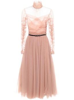 Платье Из Тюля С Драпировкой Brognano 72I5V9012-MjE1