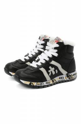Высокие кожаные кроссовки Premiata Will Be ADAM-M/M0080326/CHILD
