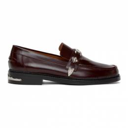 Toga Virilis Burgundy Leather Loafers FTVRMJ82602821