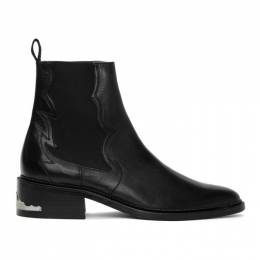 Toga Virilis Black Leather Chelsea Boots FTVRM106409009