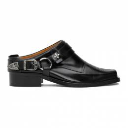 Toga Virilis Black Leather Buckle Loafers FTVRMJ91009005