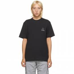 Etudes Black Wonder Logo T-Shirt E16B-406-01
