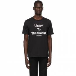 Takahiromiyashita The Soloist Black Listen To The Soloist T-Shirt sc.0101