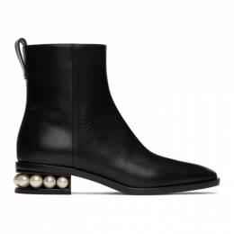 Nicholas Kirkwood Black Casati Pearl Ankle Boots 903A52VLS2
